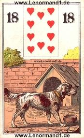 Hund, antikes Wüst Lenormand