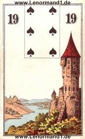Turm, antikes Wüst Lenormand