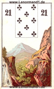 Berg, antikes Wüst Lenormand