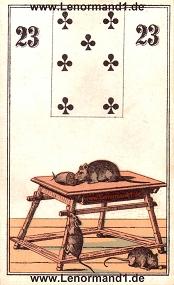 Mäuse, antikes Wüst Lenormand