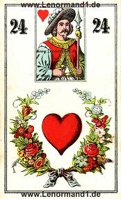 Herz, antikes Wüst Lenormand
