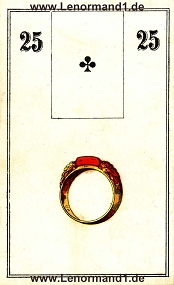 Ring, antikes Wüst Lenormand