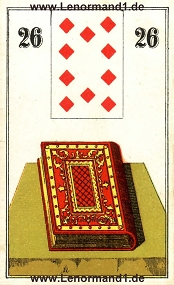 Buch, antikes Wüst Lenormand
