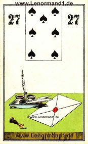 Brief, antikes Wüst Lenormand