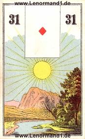 Sonne, antikes Wüst Lenormand