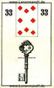 Schlüssel, antikes Wüst Lenormand