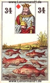 Fische, antikes Wüst Lenormand
