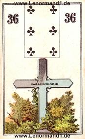 Kreuz, antikes Wüst Lenormand